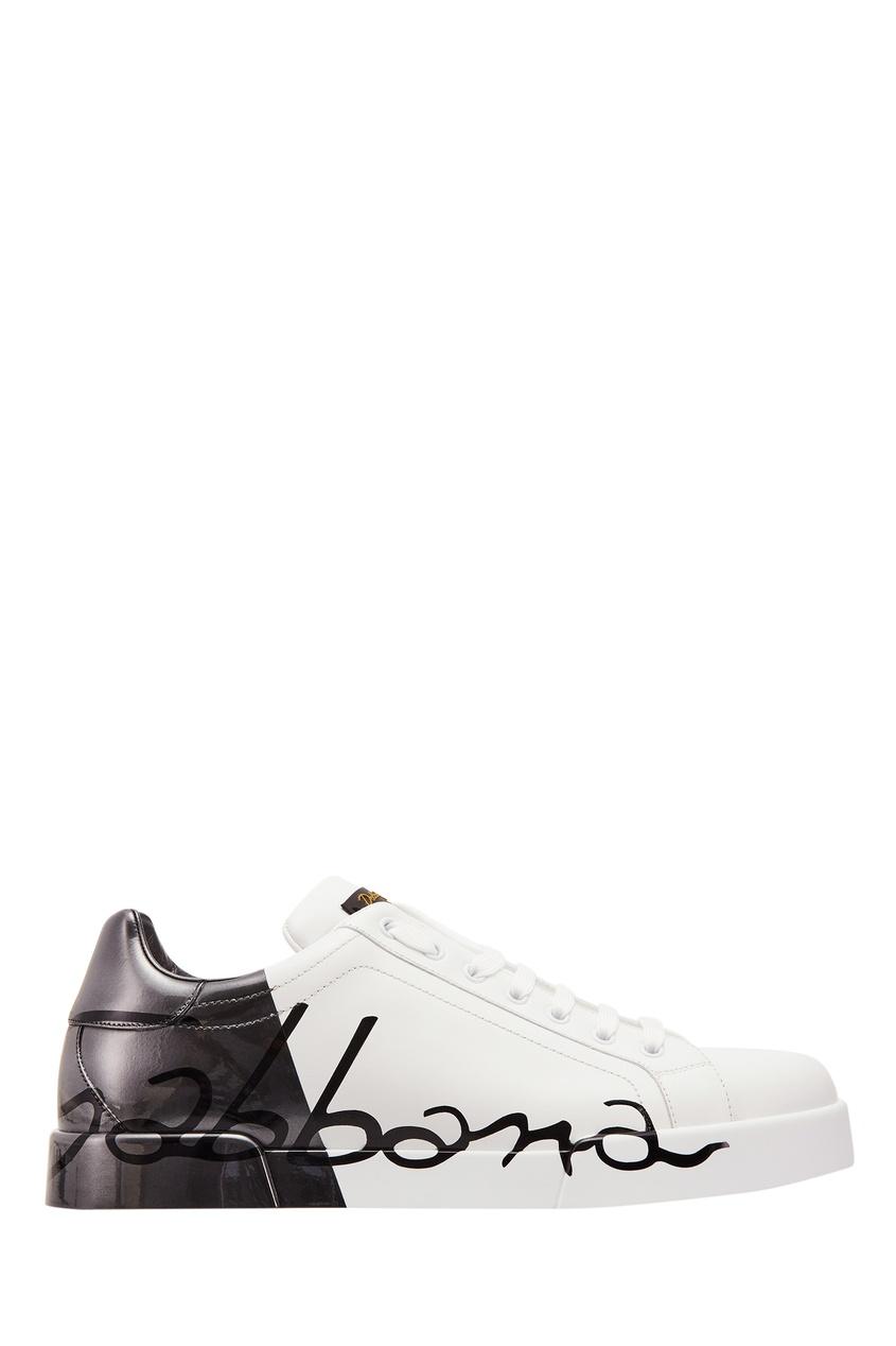 мужские кроссовки dolce & gabbana, белые