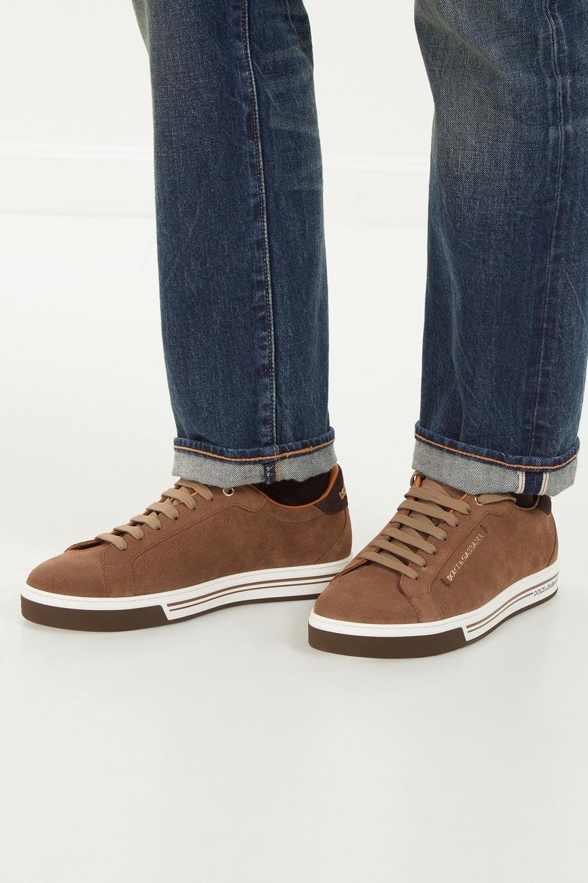 мужские кроссовки dolce & gabbana, бежевые