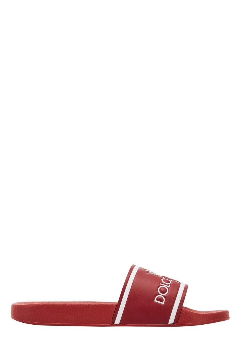 мужские шлепанцы dolce & gabbana, красные