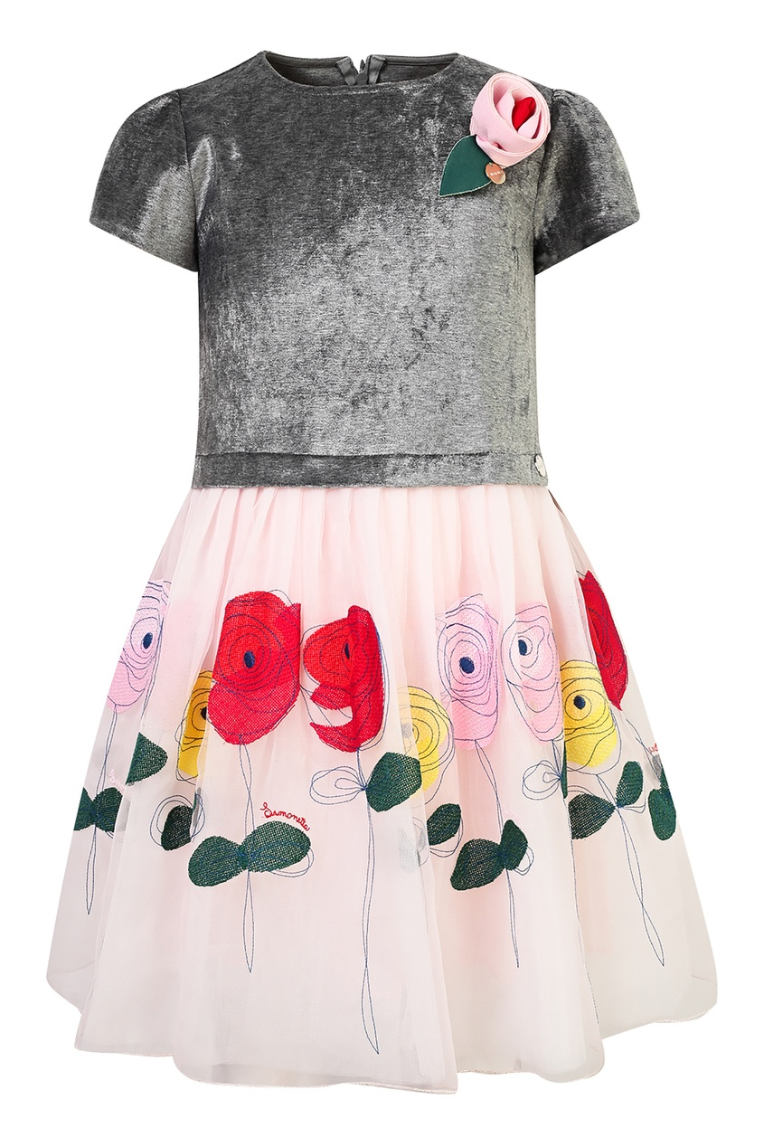 Комплект с платьем и брошкой SIMONETTA MINI