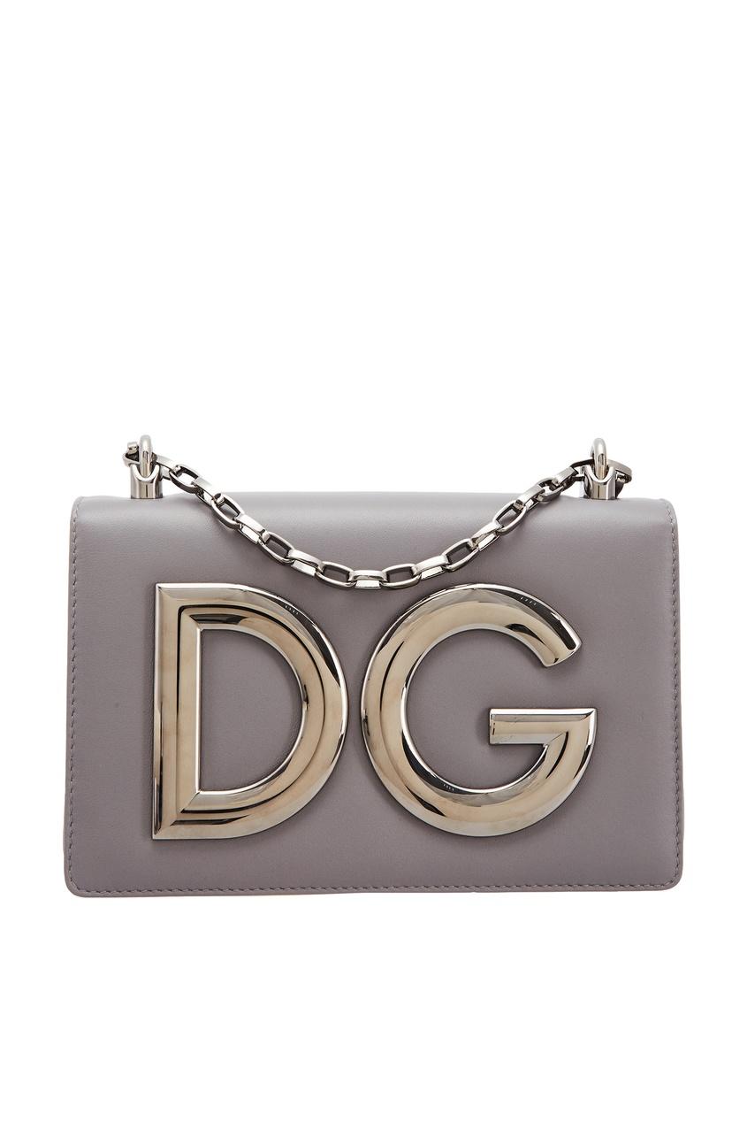 Серая сумка DG Girls с логотипом Dolce&Gabbana