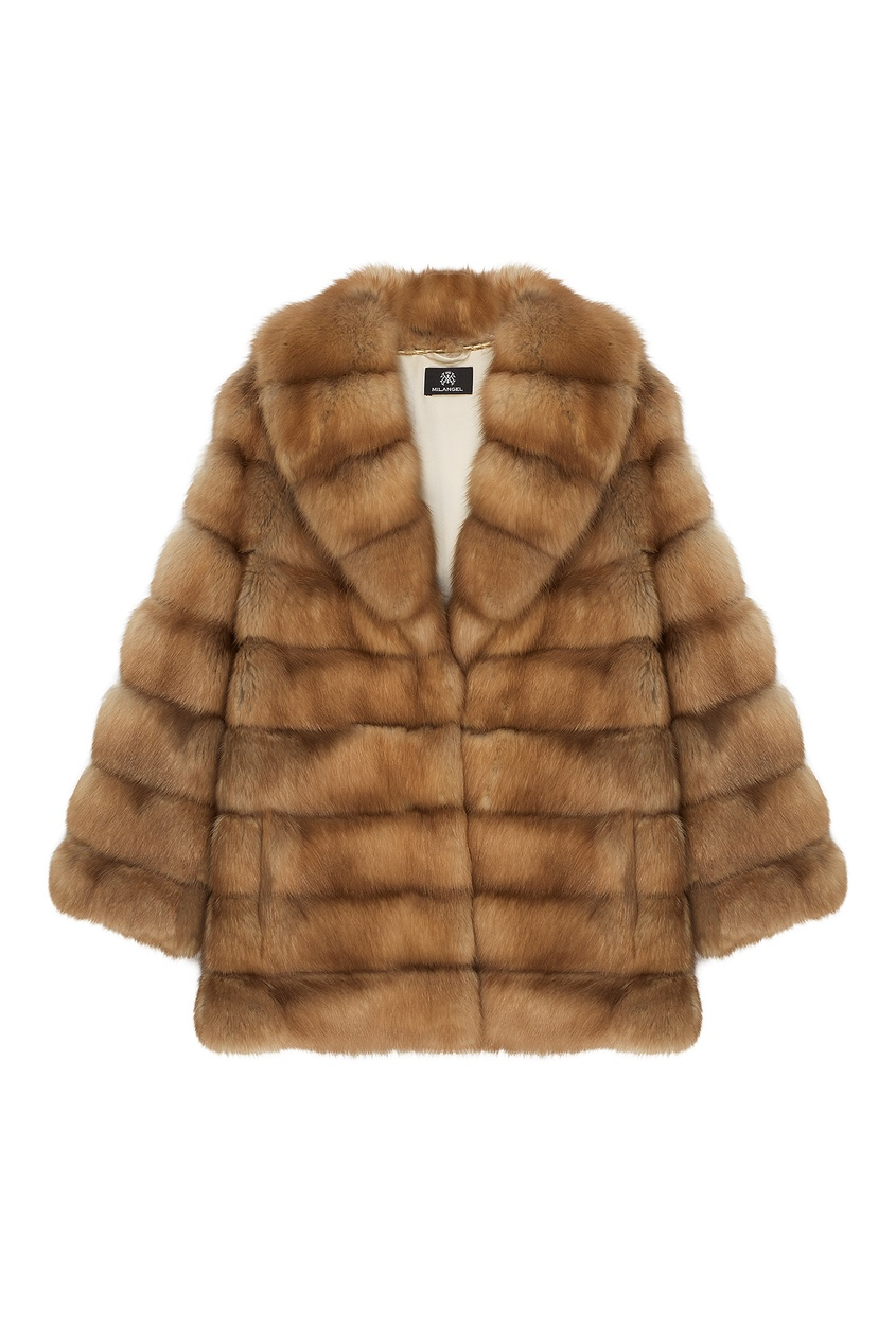 Куртка из меха куницы фото