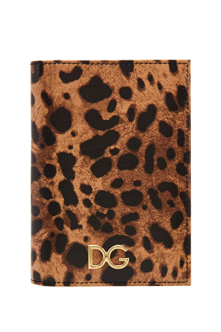 Обложка на паспорт с леопардовым принтом