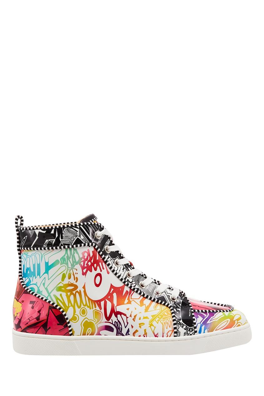 Разноцветные кроссовки Rantus Orlato Flat Christian Louboutin