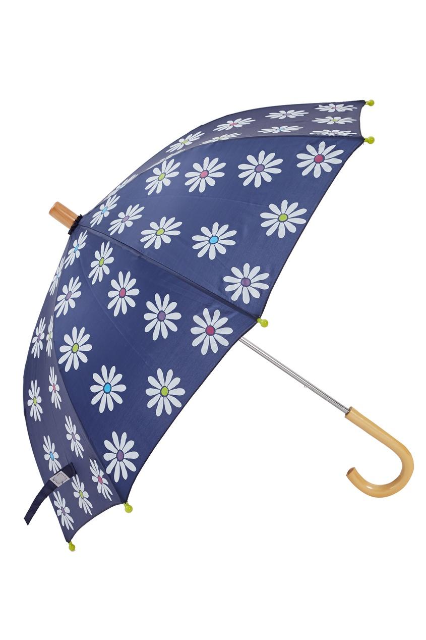 Синий зонт с ромашками