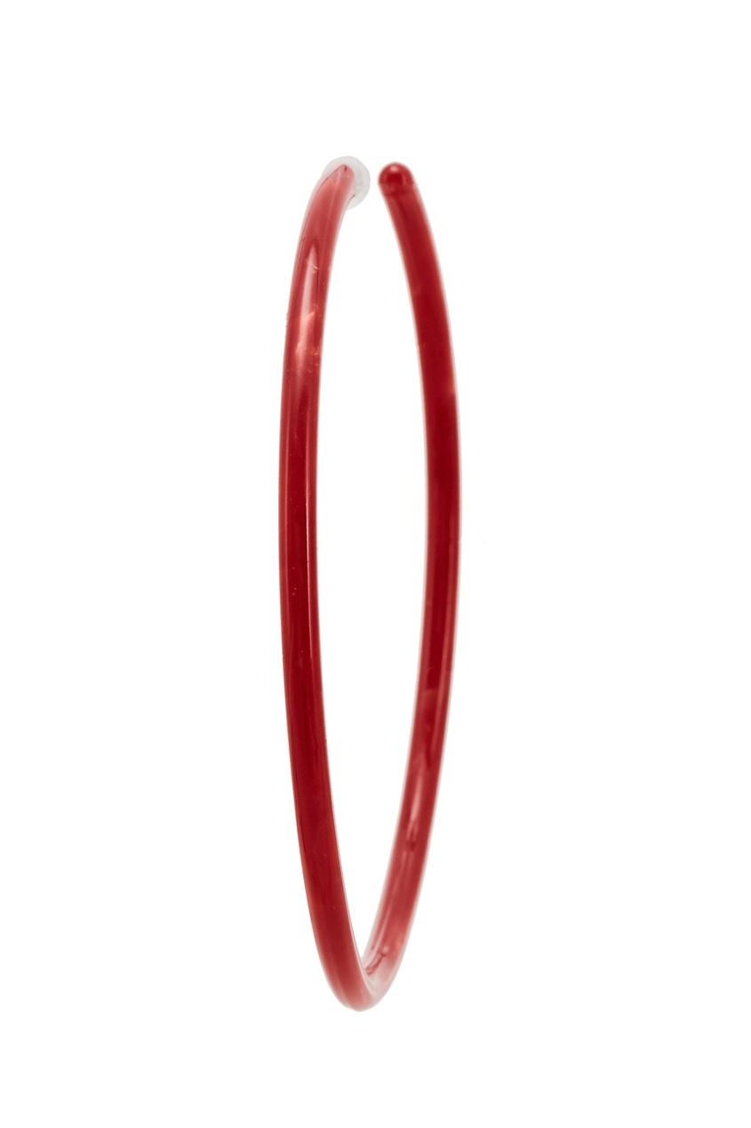 Красные пластиковые серьги-кольца Aloud 2243102498 красный фото