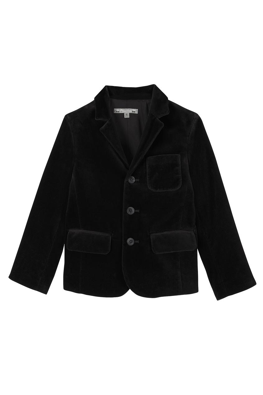 Черный бархатный пиджак JAMESON от Bonpoint