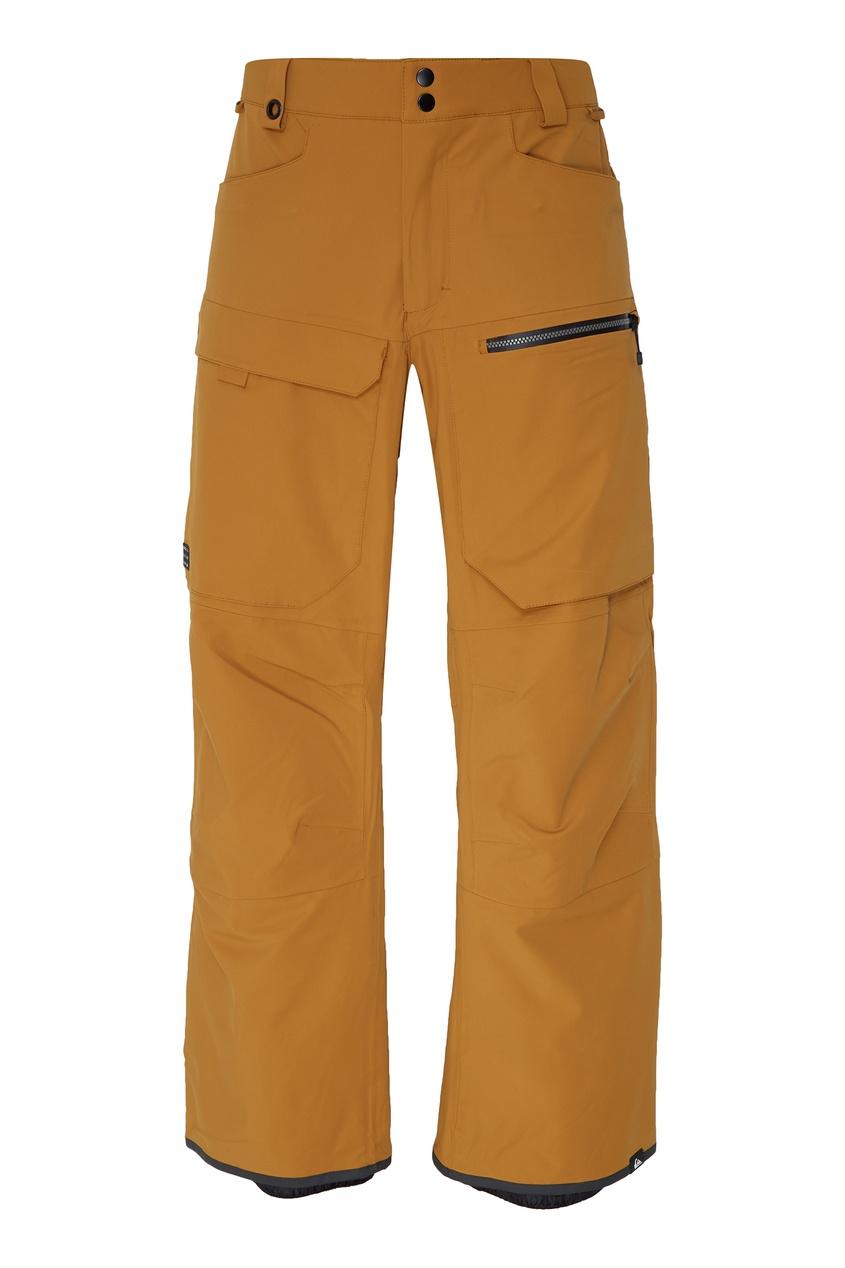 Купить Горчичные сноубордические штаны TR Stretch от Quiksilver золотого цвета