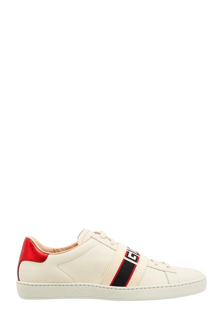 Кроссовки Ace с полосками и логотипом от Gucci