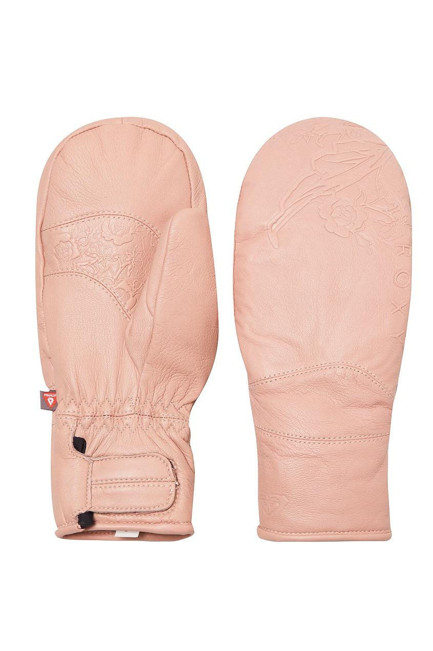 женские варежки roxy, розовые