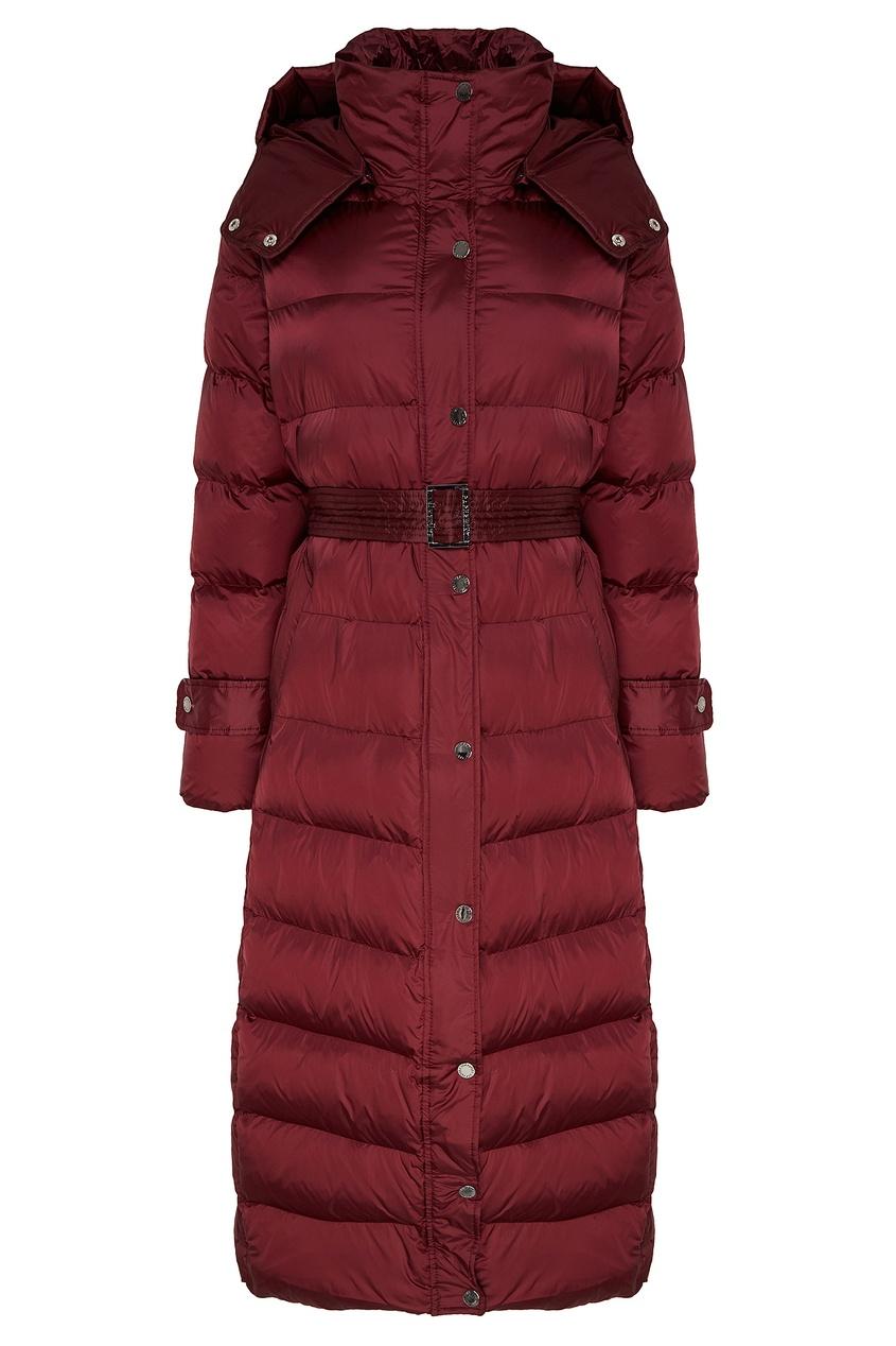 Бордовая куртка со съемным поясом