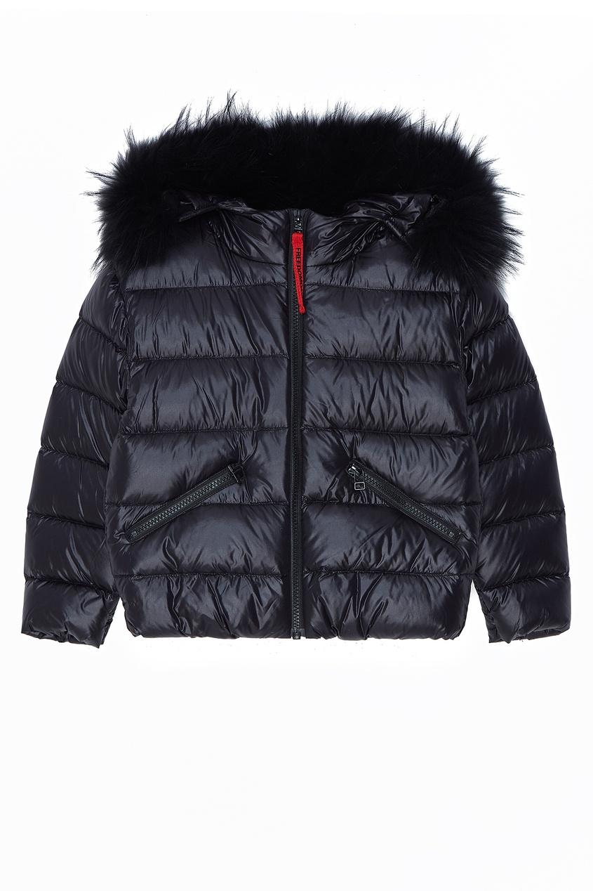 Черная стеганая куртка Freedomday Kids