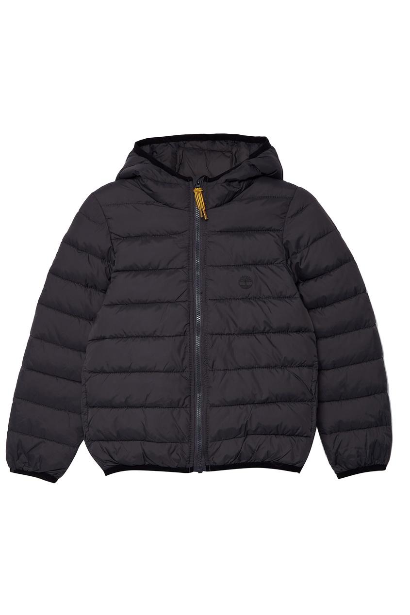 Серая стеганая куртка Timberland Kids