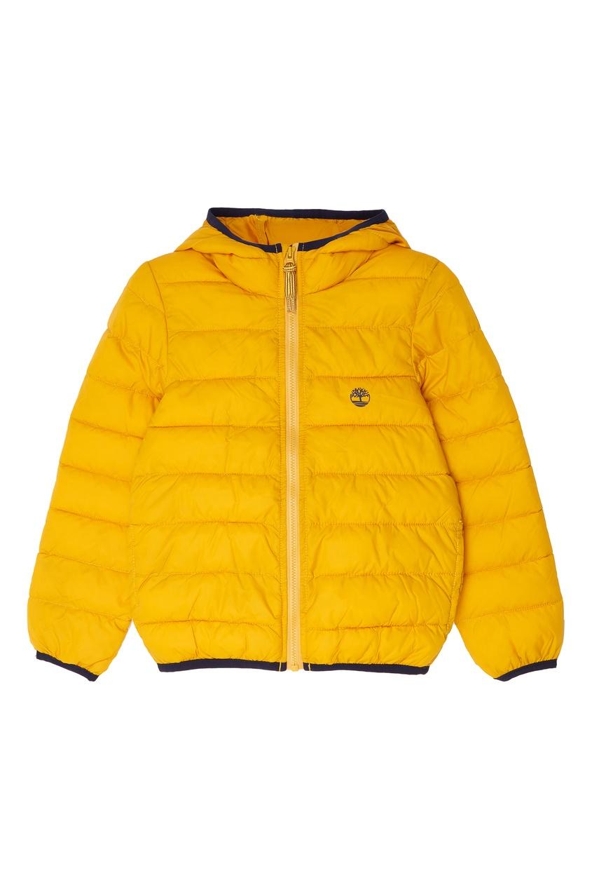 Купить со скидкой Желтая стеганая куртка