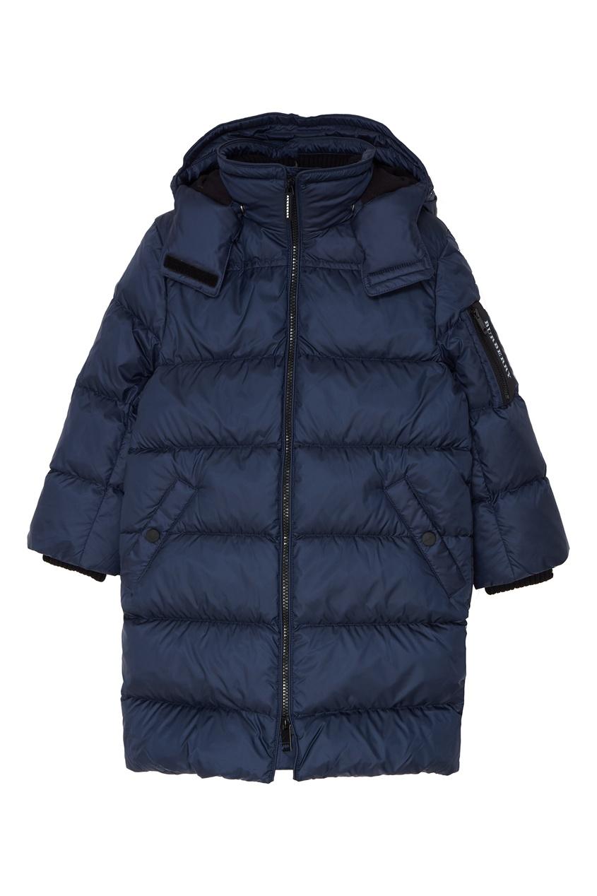 Купить со скидкой Синяя стеганая куртка