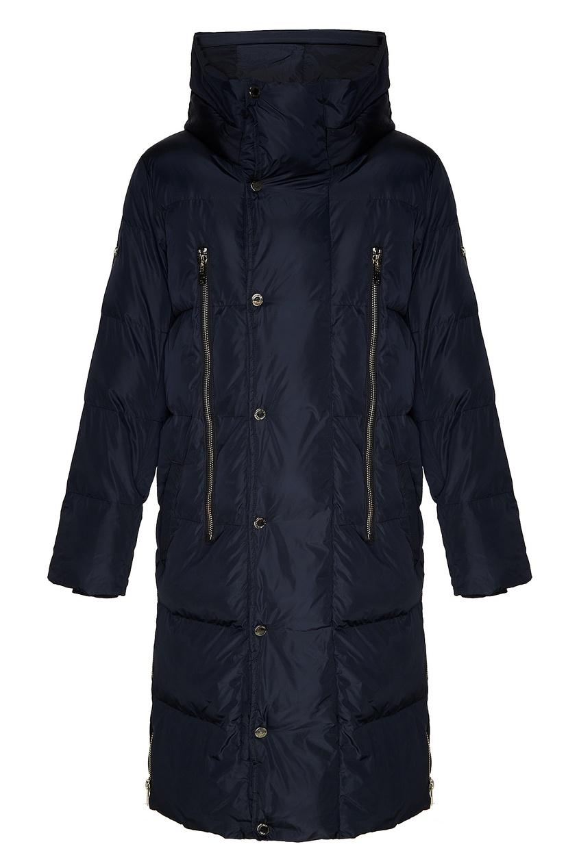 Купить со скидкой Синее стеганое пальто