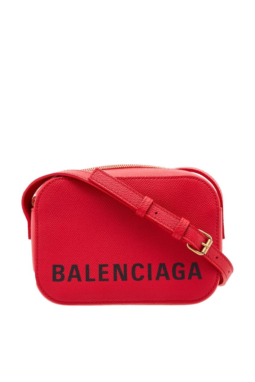 женская сумка balenciaga, красная