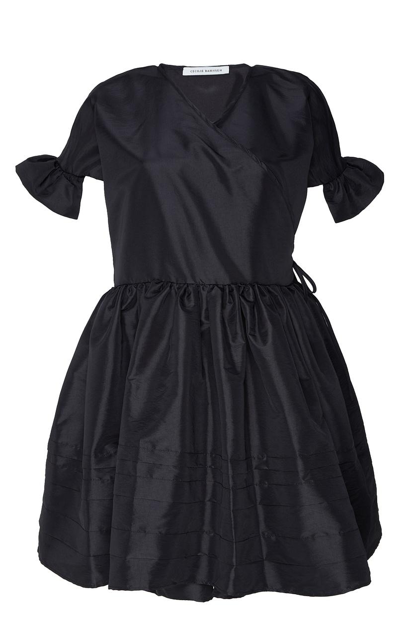 Черное атласное платье Frisca от Cecilie Bahnsen