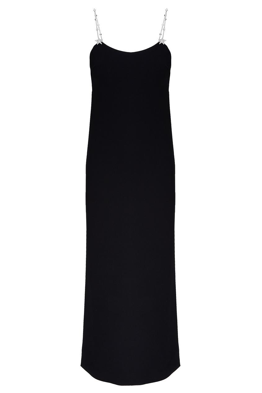 Черное платье на бретелях от Miu Miu