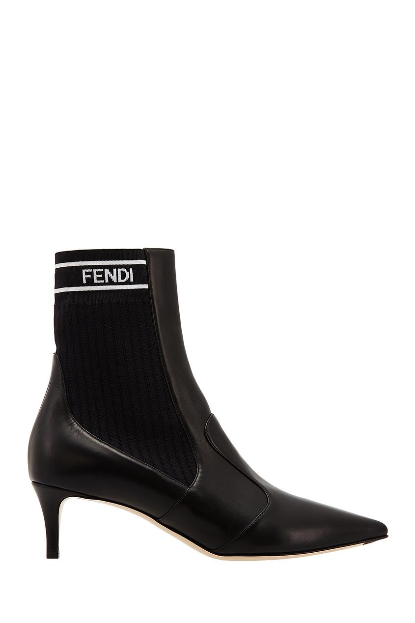 Черные ботильоны от Fendi