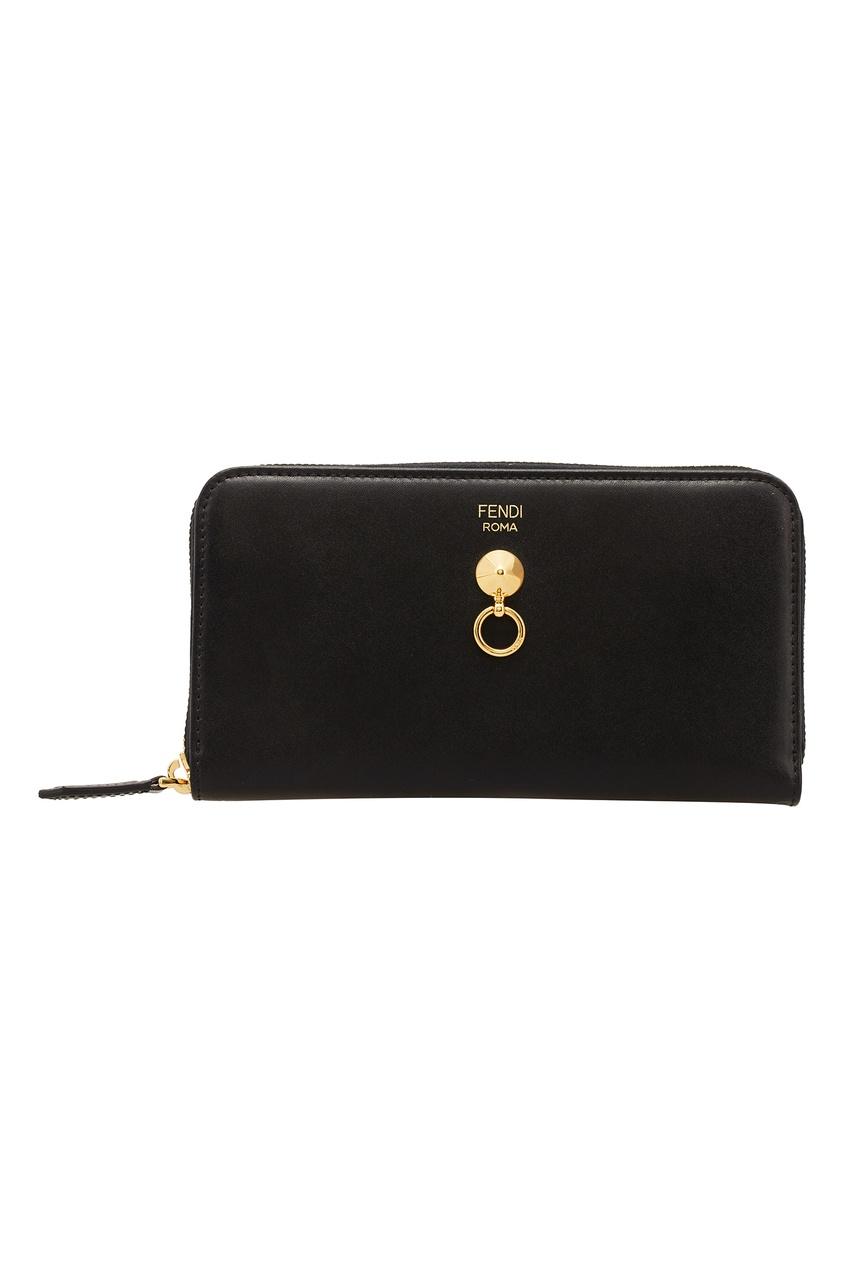 женский кошелёк fendi, черный