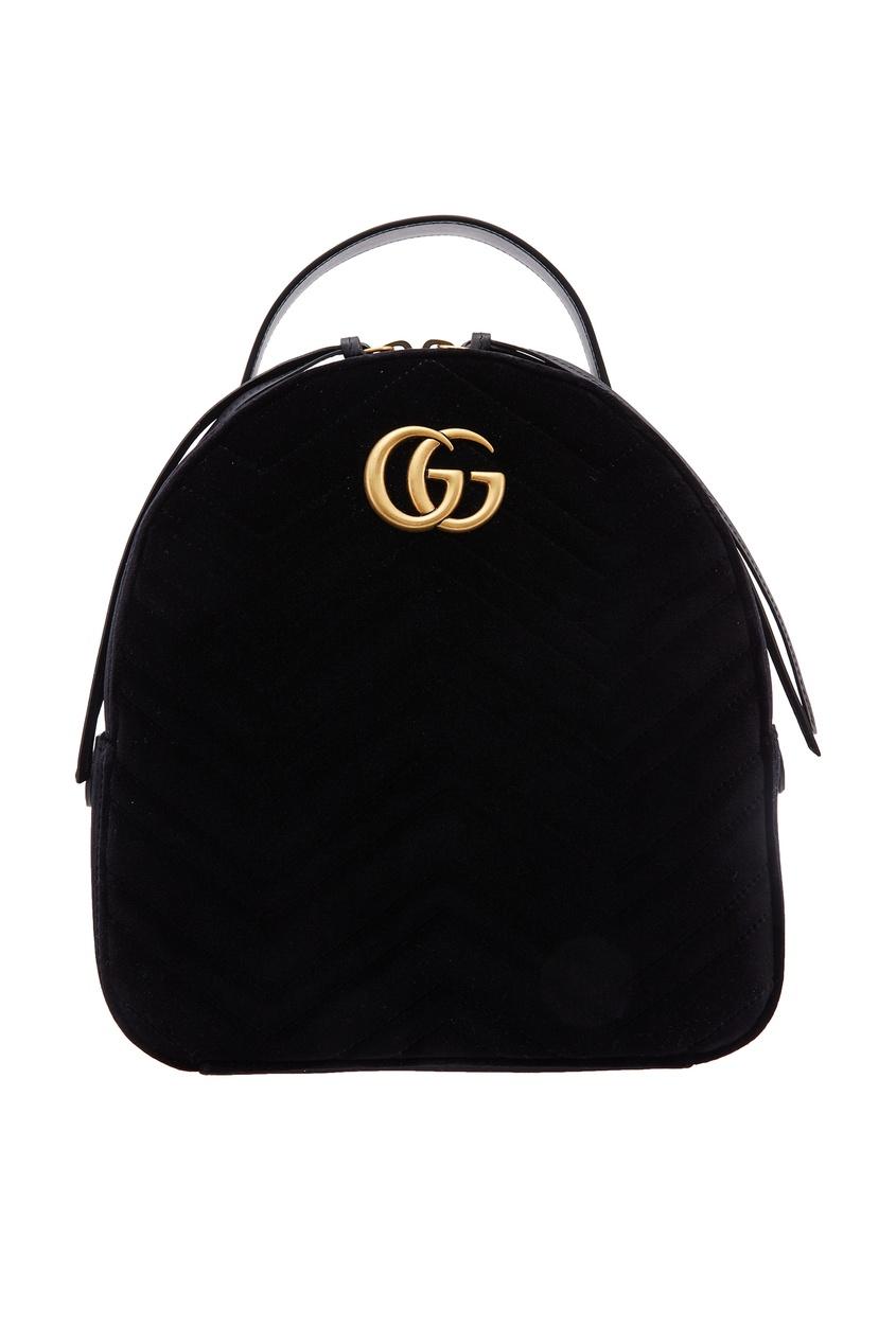 Бархатный рюкзак GG Marmont Gucci