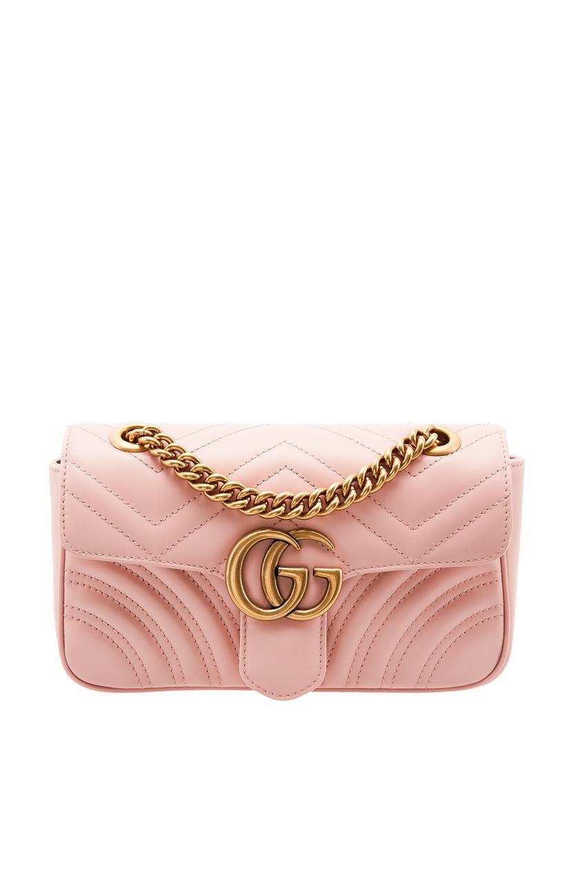 женская сумка gucci, розовая