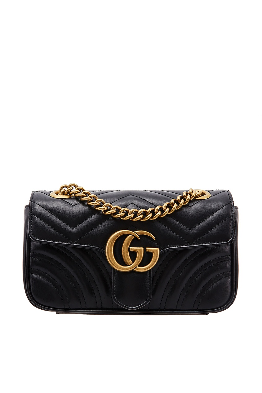 Купить Средняя сумка GG Marmont от Gucci черного цвета