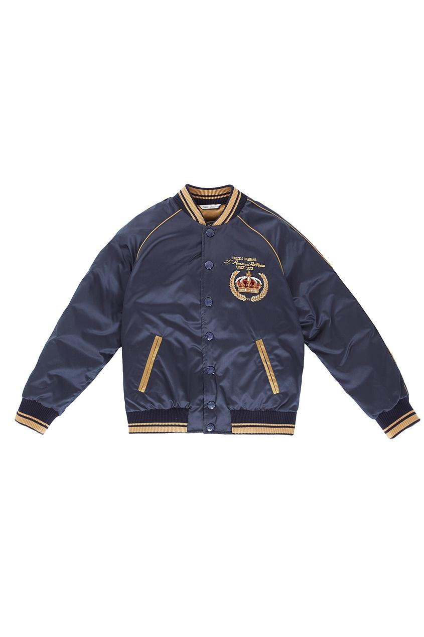 Контрастная куртка-бомбер