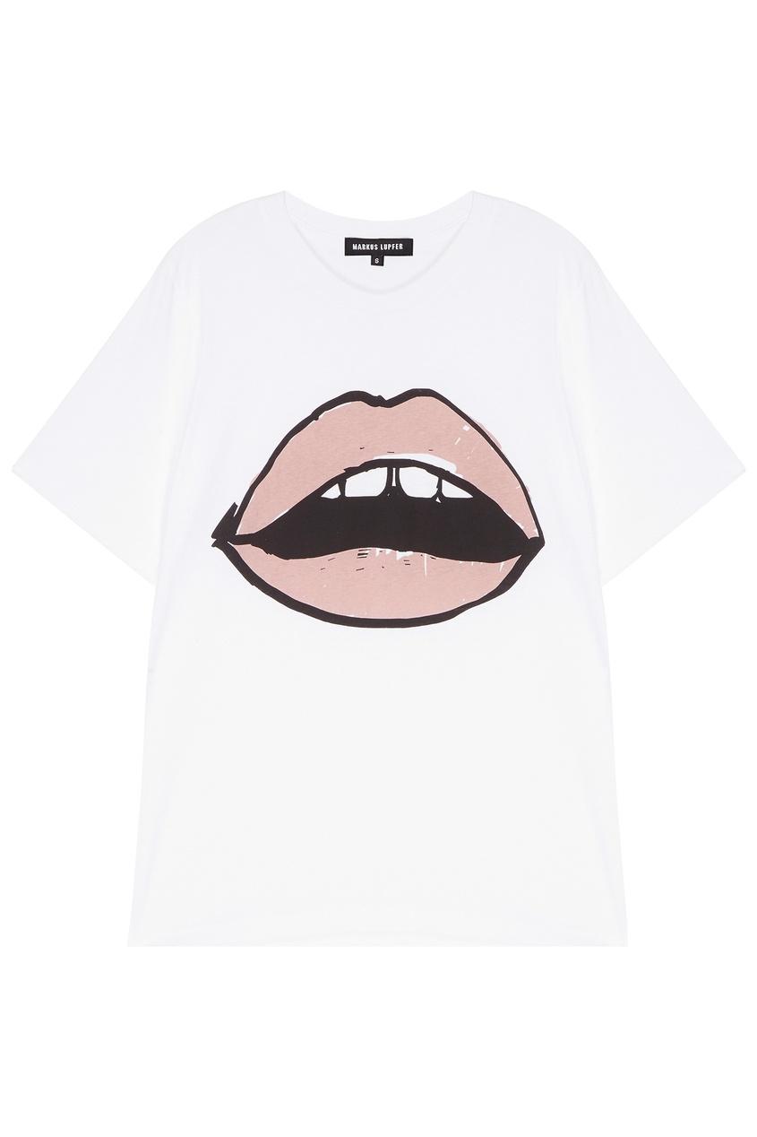 женская футболка markus lupfer, розовая