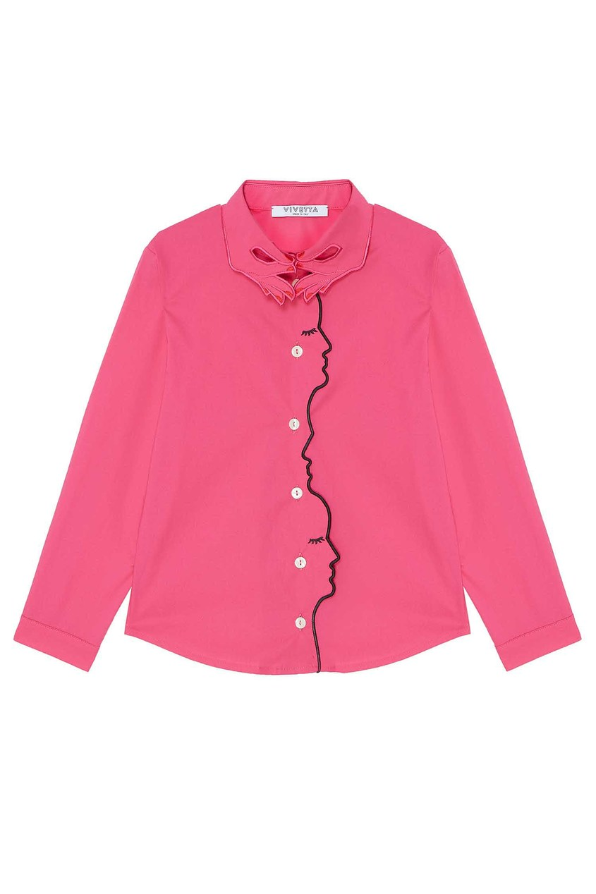 Купить Розовая блузка от Vivetta Kids розового цвета