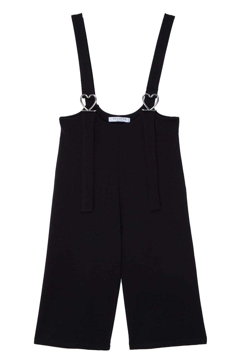 Черные брюки с подтяжками от Vivetta Kids