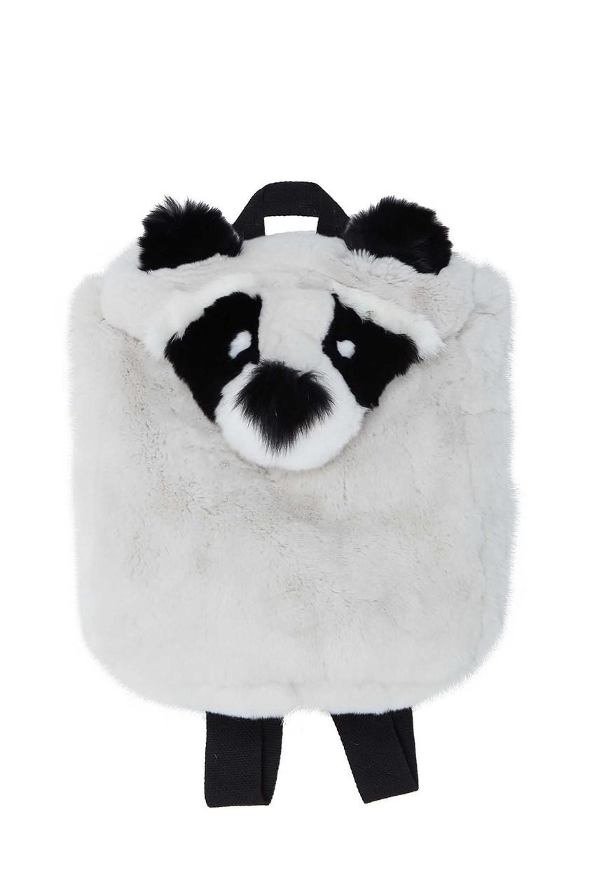 Серый рюкзак из меха Yves Salomon Kids
