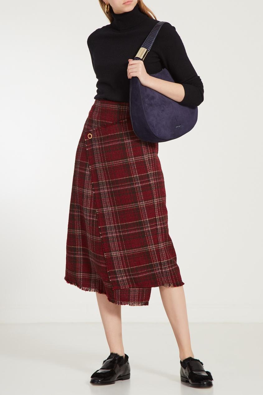 женская сумка jimmy choo, синяя