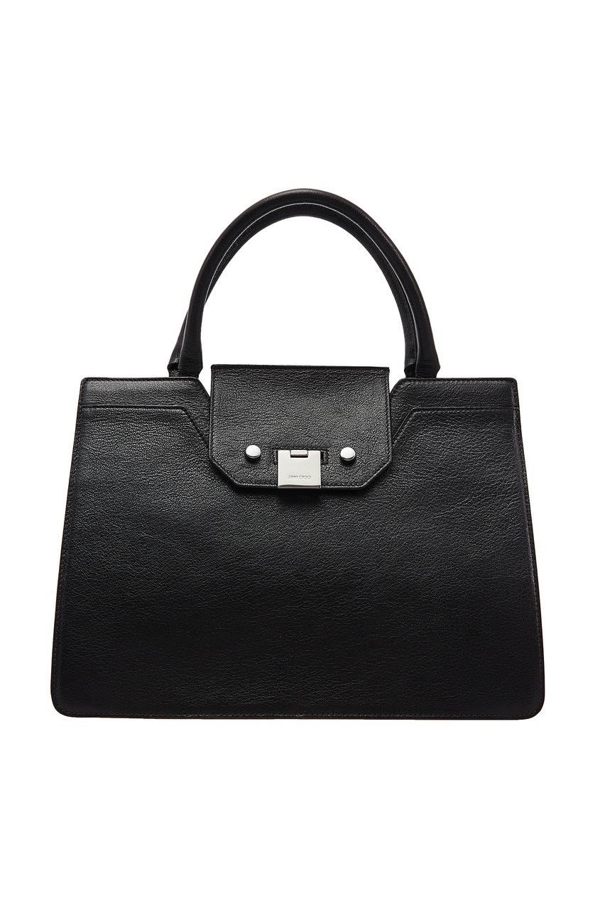 Черная кожаная сумка-тоут Rebel Jimmy Choo