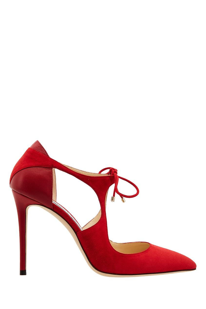 Красные туфли Vanessa 100 Jimmy Choo