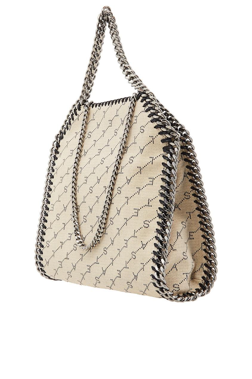 женская сумка stella mccartney, бежевая