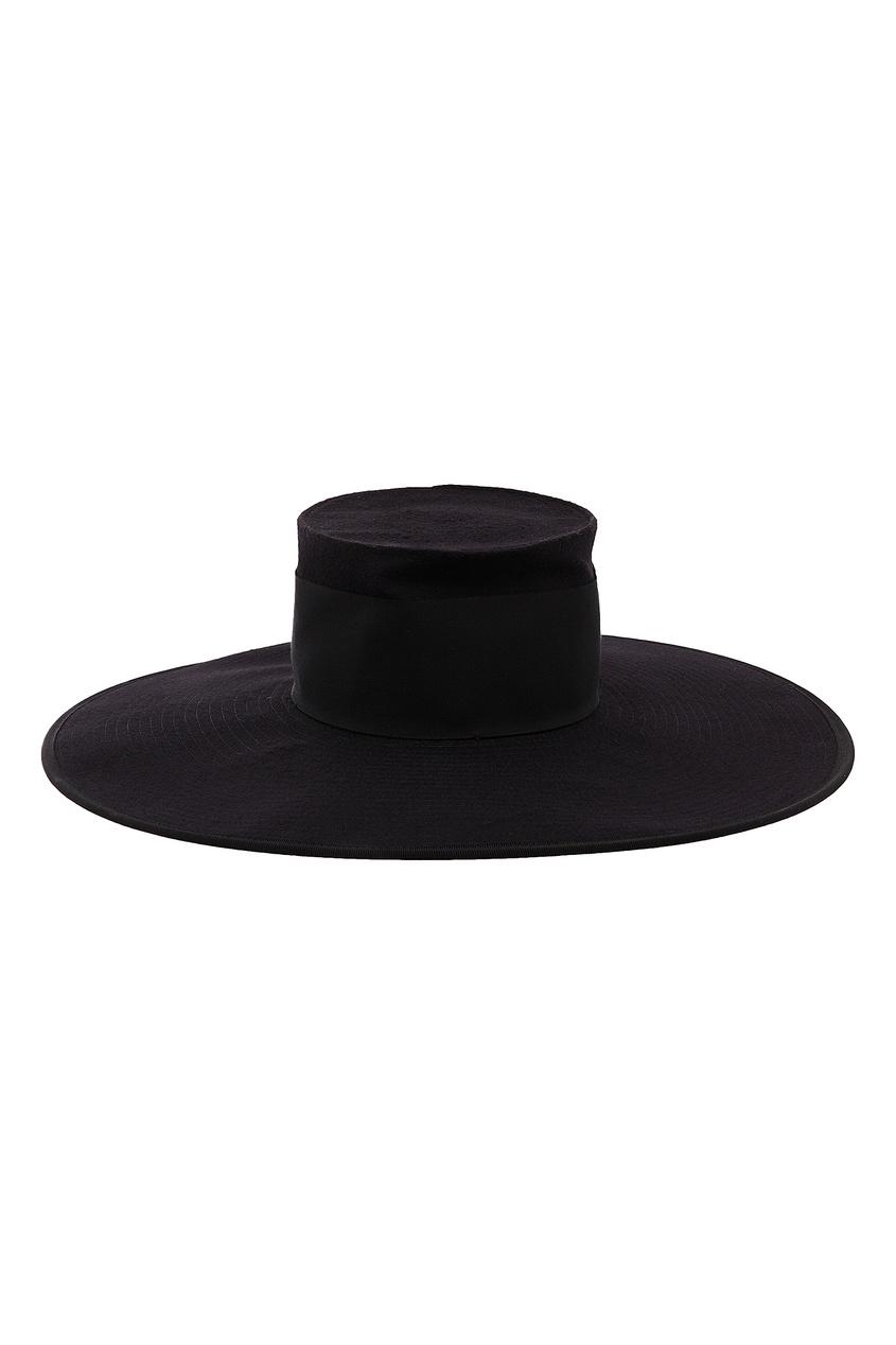 Фото #1: Черная шерстяная шляпа