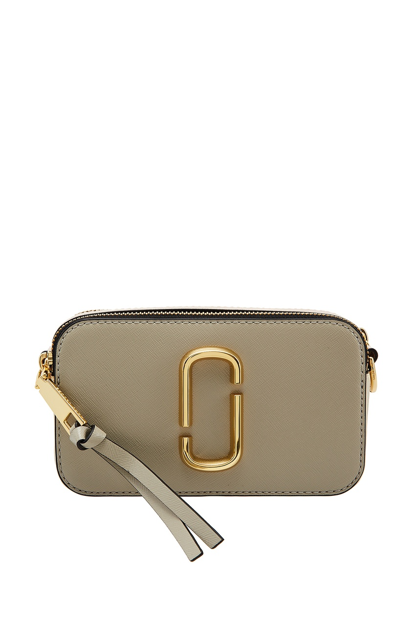 Серая кожаная сумка Marc Jacobs