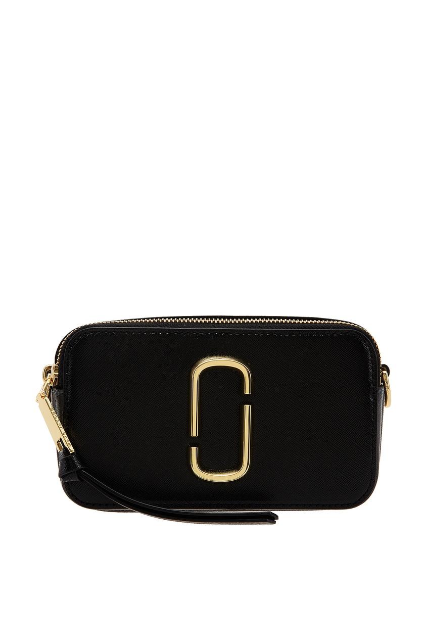 Серо-черная кожаная сумка Marc Jacobs