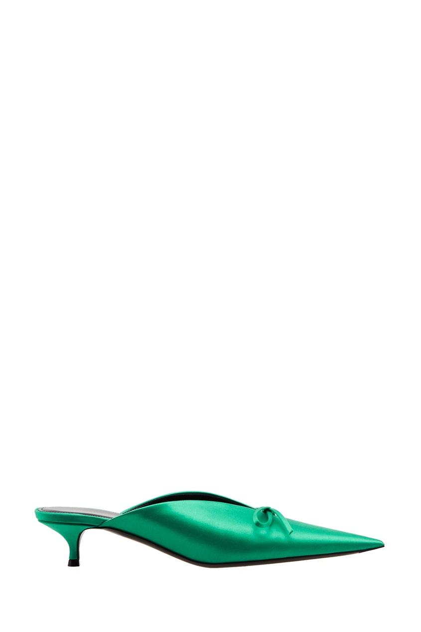 Зеленые мюли Knife Balenciaga