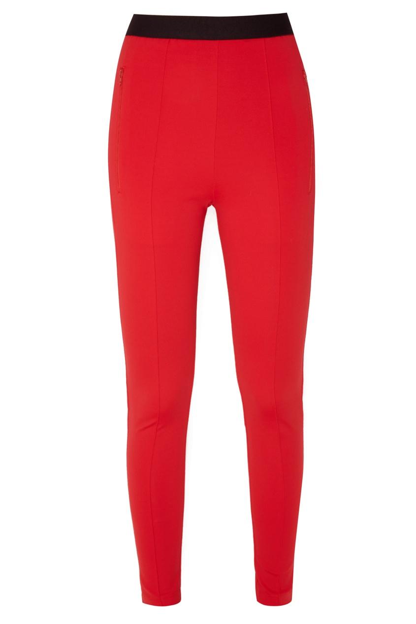 Ярко-красные брюки со стрелками Balenciaga