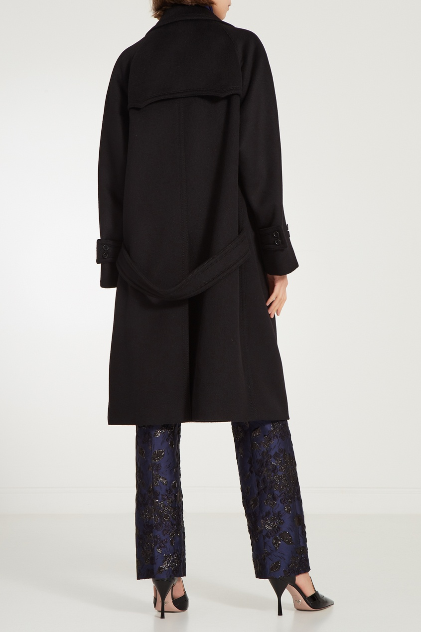 Prada / Черное шерстяное пальто