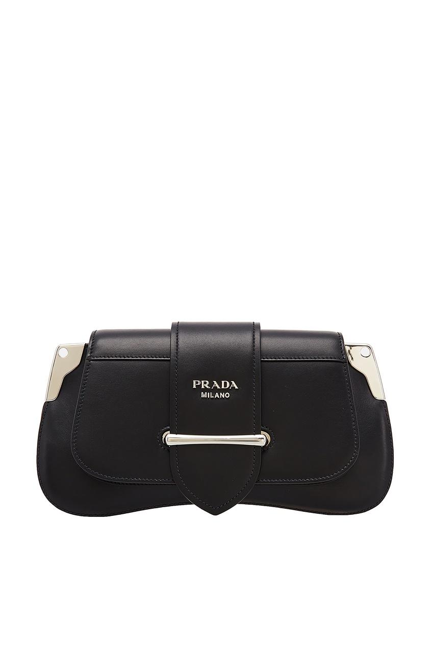 женская сумка prada, черная