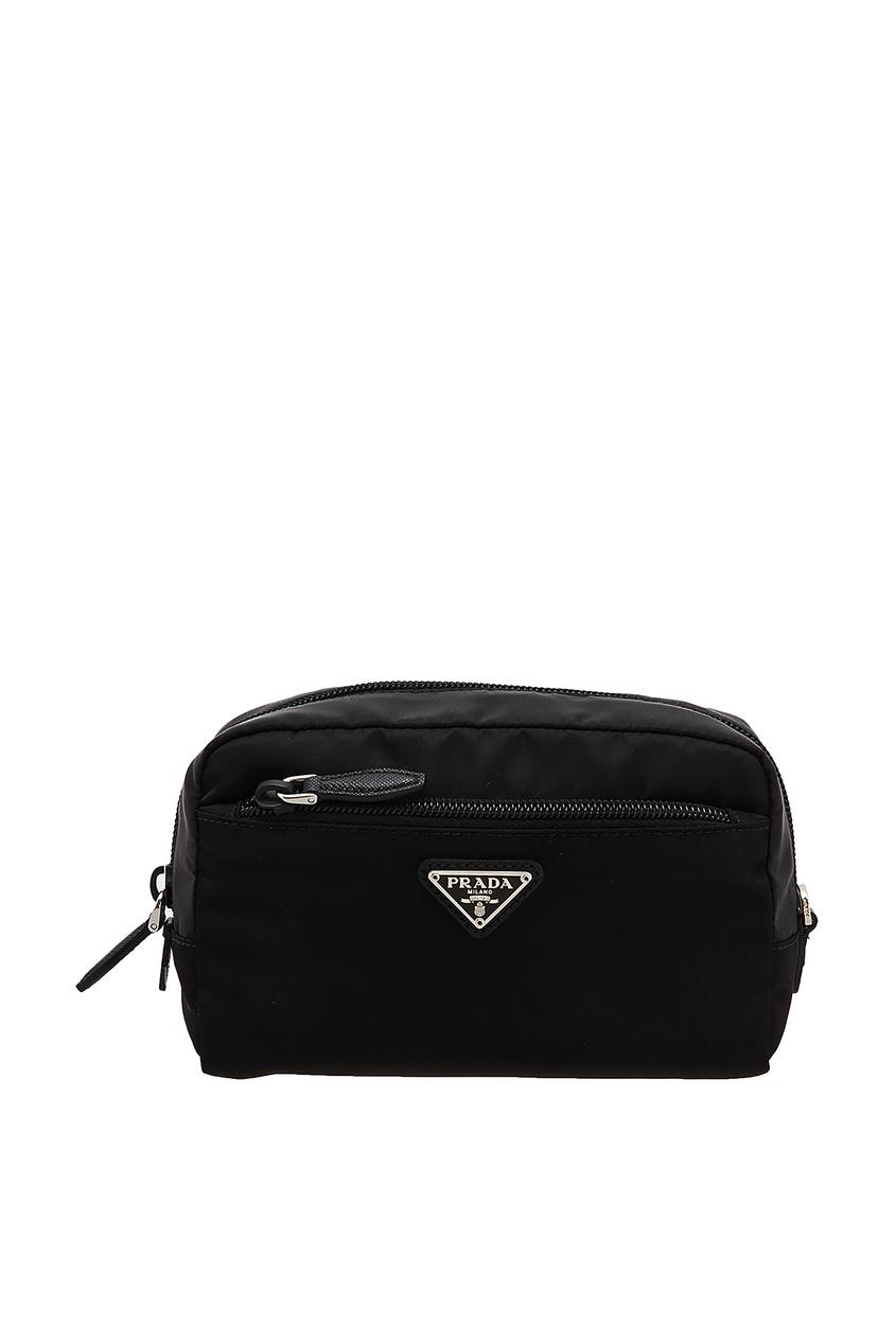 Комбинированная черная косметичка от Prada