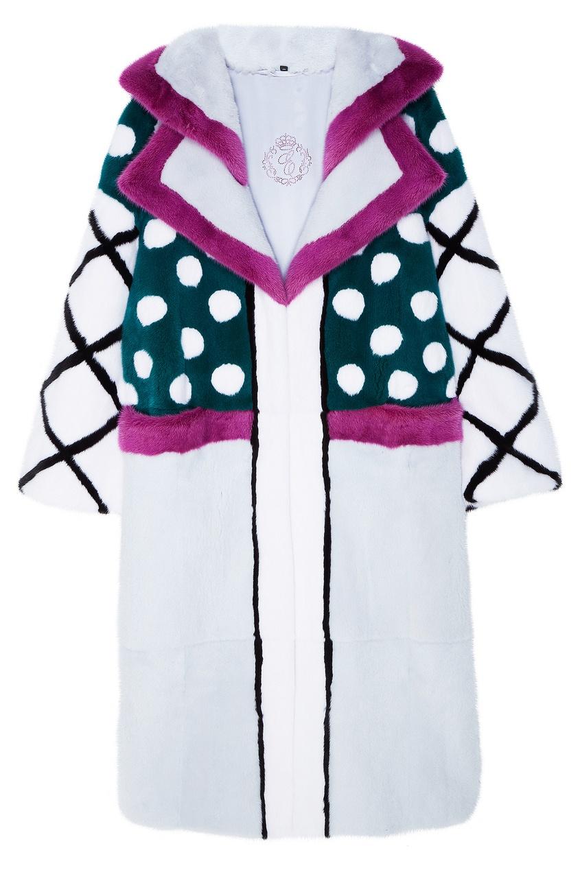 Цветное пальто из меха Меха Екатерина