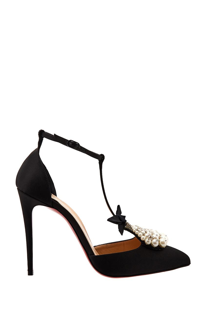 Черные туфли Goyetta 100 Christian Louboutin