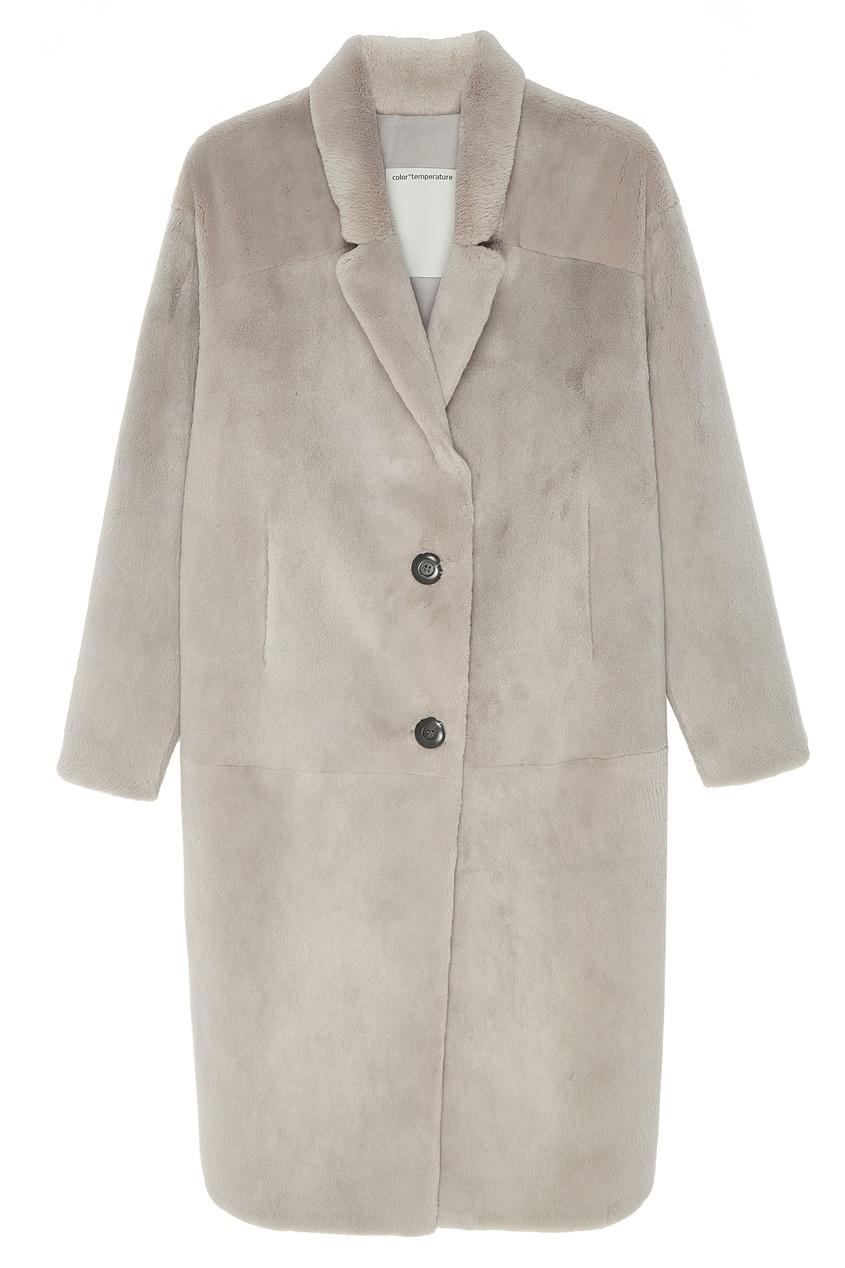 Серое меховое пальто «Джилиан» Color Temperature