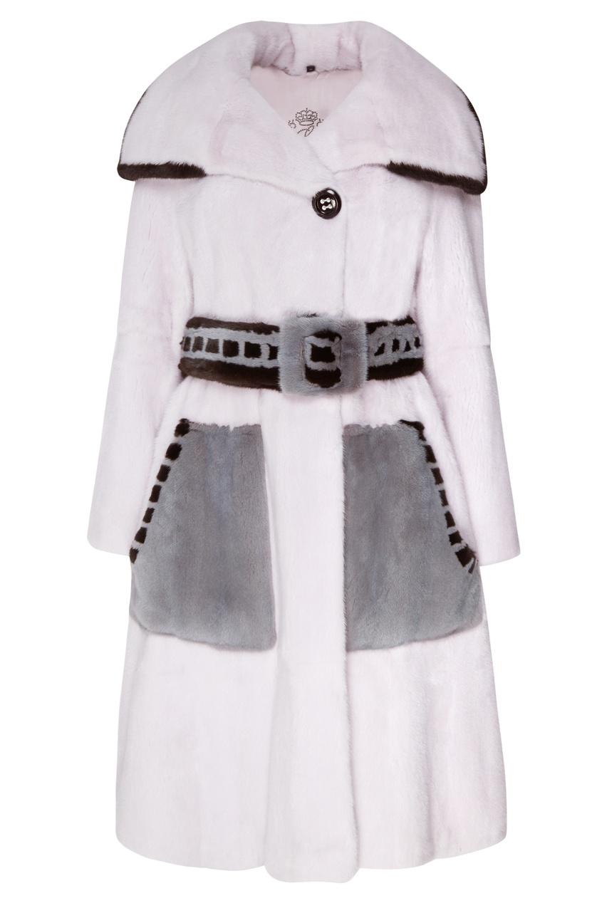 Норковое пальто с поясом Меха Екатерина