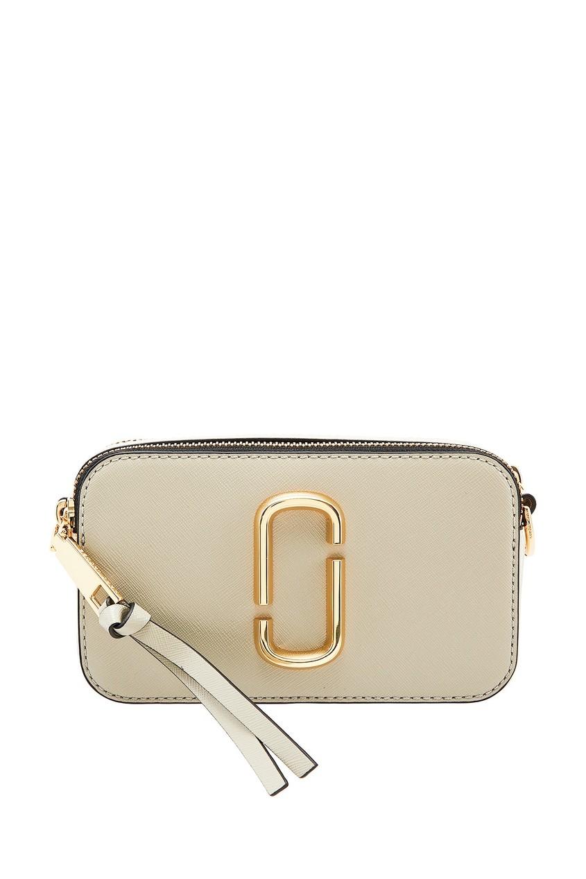 Серая кожаная сумка от Marc Jacobs